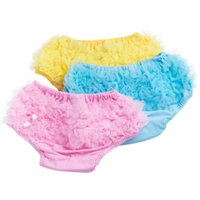Wholesale toddlers lace underwear resale online - Baby Kids Underwear New Female Baby PP Shorts New Born Years Old Lace Cotton Shorts Panties Toddler Girls Underwear