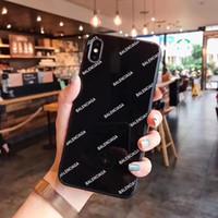 ingrosso resistenza all'acqua di iphone-Vetro Luxury Fashion Letter Lucida Casi Designer del telefono per iPhone Pro 11 Max X XS MAX XR 6S 6 7 8 Inoltre Shell del cellulare della copertura posteriore della A02