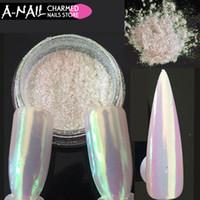 jarra para gel al por mayor-0,2 g / tarro de neón del unicornio Aurora Pigement del brillo del clavo polvo de gel UV polvo del clavo del brillo para uñas decoraciones del arte Herramientas de la manicura