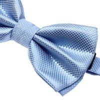 ingrosso legame azzurro semplice-Cravatta da sposa con fiocco in poliestere con fodera in Poliestere semplice FABY maschile / rosa / blu chiaro / blu scuro / argento / arancione