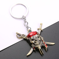 Wholesale pirate pendant stainless for sale - Group buy Mini Pirate Alloy Keychain Skull Double Knife Mask Pendant Unique Style Fashion Punk Jack Style Beautiful Key Chain