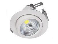 cardan downlight achat en gros de-Usine vente Chaude Réglable 15W 25W 35W Super COB LED Gimbal Embedded led lampe de coffre Round COB allumeur de magasin 85-265V LED Downlight LLFA