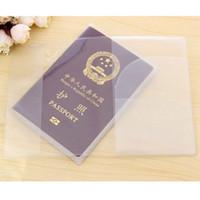 Wholesale pvc document holder for sale - Group buy Promotion PVC Passport Cover Transparent Passport Cover Case Clear Waterproof travel document bag passport holder Storage