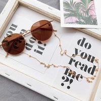 cuerda de oro al por mayor-Gafas de sol para mujer Cadenas Gafas de sol con cuentas Gafas de lectura Lentes Cadenas Correa para el cuello del cordón Cuerda Plata Cordones dorados Brillenkoord