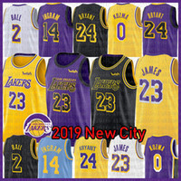 2af2e47d86f NCAA LeBron 23 James Jersey Lonzo 2 Ball Kyle 0 Kuzma Brandon 14 Ingram 8  Kobe 24 Bryant Magician Earvin 32 Johnson College Basketball Men