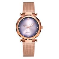 женские браслеты оптовых-vansvar Women's Bracelet Watches Casual Quartz Stainless Steel Analog Wrist Watch Buckle Clasp Band New Strap Watch Gifts