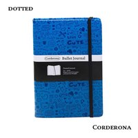 fundas de pu para diarios al por mayor-Dot Grid Cubierta dura PU Diary Bullet Notebook Creative A5 Dotted Journal Bujo