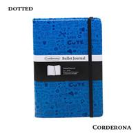 taschenbücher verkauf großhandel-Dot Grid Hard Cover PU Tagebuch Bullet Notebook Kreative A5 Gepunktete Zeitschrift Bujo