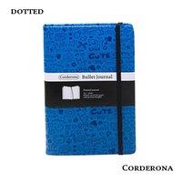 pu deckt für tagebücher großhandel-Dot Grid Hard Cover PU Tagebuch Bullet Notebook Kreative A5 Gepunktete Zeitschrift Bujo