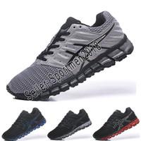 hombres zapatillas de gel al por mayor-Asics Nuevas zapatillas con amortiguación Gel-Quantum 360 Shift Pure Black Blue White Hombres Mujeres Descuento Zapatillas deportivas