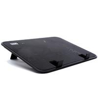 notebook-laptop-stand kühlung kühler großhandel-14 zoll Notebook Kühler 5 v USB Externe Laptop Cooling Pad Schlank Stehen High Speed Silent Fan Metal Panel