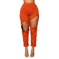 женский карандаш джинс оптовых-Fashion Women Stretch Jeans Female High Waist Stretch Slim Sexy Pencil Pants z0313