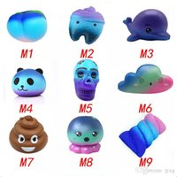 Wholesale toy shit resale online - Squishy cakes shit starry squishies Slow Rising cm cm Soft Squeeze Cute Cell Phone Strap gift Stress children toys Decompression Toy