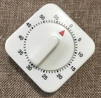 minutero al por mayor-2019 Kitchen Timer Count Down Alarm Reminder Hot 60 Minutes Cuadrado blanco Temporizador mecánico para cocina