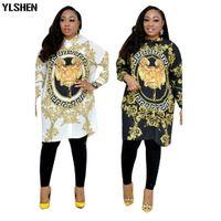африканская одежда оптовых-Африканские платья для женщин Dashiki Print Африканская одежда Bazin Broder Riche Плюс размер женщин Сексуальная рубашка платье Robe Femme Africaine
