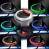 fibra ótica venda por atacado-Fibra Óptica LED MASCARELLO chicote de fibra óptica Rave Luz chicote w / 360 ° F radial giratória dança