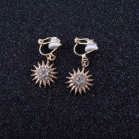 Wholesale free shipping bijoux resale online - JIOFREE gift New Fashion small Flower Clip on Earrings For Women Gold Silver Jewelry Bijoux Elegant Gift