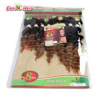 Wholesale brazilian jerry curl hair weave resale online - 8pcs One Pack A Brazilian Deep Wave Hair Extensions Weave Hair Bundles Natural Black B Bug Kinky Curly B Jerry Curl