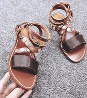 ingrosso scarpe da calcio estivo designer-Sandali donna Sandali estivi Stivali alla caviglia sexy Sandali gladiatore Donna Scarpe casual per il tempo libero Designer Ladies Beach Sandales Dames