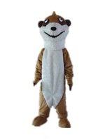 ingrosso grandi costumi della mascotte della testa-2019 Alta qualità calda la testa un costume da mascotte marrone scoiattolo sottile con grandi occhi in vendita