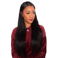 Wholesale full swiss lace human hair wigs for sale - Lace Front Human Hair Wigs Straight Pre Plucked Hairline With Baby Hair Inch Straight Remy Full Lace Human Hair Wigs