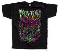 siyah ağır metal toptan satış-Trivium, Amerikan Heavy Metal Grubu, Poster Tişörtü (Siyah) S - 5xl