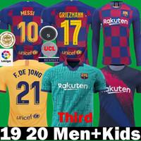 messi formaları toptan satış-2019 2020 Barselona Üçüncü Dışarıda Griezmann DE JONG Messi Futbol Formalar 19 20 Çocuklar Piqué Dembélé ARTHUR SUAREZ UMTITI Uzun Futbol Gömlek