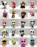 brinquedo de pelúcia grande coelho venda por atacado-TY Beanie Boos De Pelúcia Recheado Brinquedos Big Eye Animais Pinguim De Coelho Brinquedos Macios Colorido Crianças Pequenas Animais Bonecas de Pelúcia Presentes