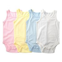 Wholesale baby leotards newborn resale online - Baby Romper suit onesies sleeveless leotard jumpsuit clothes cotton baby boys girls triangle romper newborn baby unisex clothes FJ80