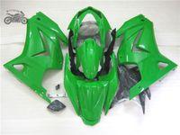 обтекатель zxr оптовых-Инъекции обтекатели набора для Кавасаки Ninja 250R ZX250R ZXR 250 2008 2009 2010 2011 2012 EX250 08-12 глянцевого зеленый черного тела обтекателя Sf83