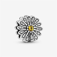 Wholesale clip charms for bracelets for sale - Group buy New S100 Sterling Silver Reflexions Sparkling Daisy Flower Clip Charm Bead For European Pandora Jewelry Reflexions Mesh Bracelets