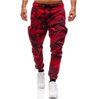 çoklu cep giyim toptan satış-Erkekler Joggers 2018 Rahat Pantolon Erkekler Marka Giyim Sonbahar Çok Cep Kamuflaj Pantolon Elastik Erkek Pantolon Erkek Joggers 3XL