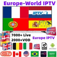 ingrosso smart box android iptv 4k-Abbonamento IPTV Server Europeo 6300 + Canali Francia Portogallo Belgio Belgio Italia M3U Smart Android TV Box IPTV online 4K TV