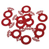 décorations de table de fête de fiançailles achat en gros de-Papier Laser Cut Diamond Ring de mariage vin Coupe carte de mariage Décor de table Douche d'engagement Bachelorette Party Décorations
