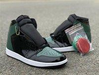 sapatos de arte homens venda por atacado-Atacado 1 alta OG Preto Orange Team Fir basquete masculino Designer Shoes New I SoleFly Miami Art Basel Moda Trainers