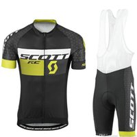 Wholesale scott short sleeve cycling jersey resale online - 2019 SCOTT Summer Cycling Set Men Bike Clothing Bicycle Wear Maillot Ropa Ciclismo Short Sleeve Cycling Jersey Sets Bib Shorts