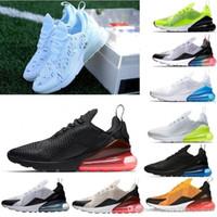şampiyon ayakkabıları toptan satış-Nike Air Max 270 Yeni tasarımcılar 2019 Fransız şampiyonu Koşu Ayakkabıları 2 yıldız Siyah Beyaz Yastık Üçlü Erkek Moda hava fashionTrainers Eur 36-45