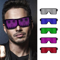 ingrosso modello di occhiali-Bluetooth LED Ciclismo Occhiali da sole Cellulare APP Connessione Wireless Dynamic Pattern Flashing Party Light up Occhiali Eyewear