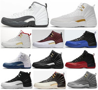 baloncesto francés al por mayor-12s nuevos zapatos oscuros gris del juego Real FIBA Juego de Pelota OVO blanca baloncesto de los hombres de la segunda fase 12 Azul Azul francesa CNY las zapatillas de deporte con la caja