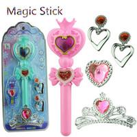 ingrosso anime flash-Flashing Light Heart Moon Rod Sailor Moon Stick Anime Cosplay Prop Giocattoli per ragazze Musical Magic Glow Wand VS Bandai bambini giocattoli