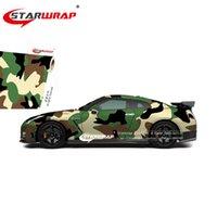 ingrosso auto di colore dell'esercito-Starwrap Car Sticker Camouflage cambiamento di colore dell'involucro della pellicola del foglio adesivo Vinyls PVC Moto Carbon Fiber Sticker Army Woodland