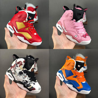 Wholesale sneaker girls resale online - Kids Classic s Basketball Shoes Big Boys Girls High Top Sneakers Luxury Designer Brand Sports Trainers Red Pink Blue black Camo Size