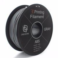 carretéis abs venda por atacado-Plástico ABS do ABS do filamento do ABS da qualidade do Freeshipping para a impressora 3D 1. cor cinzenta plástica do carretel 3D de 75mm 1KS