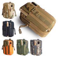 ingrosso il sacchetto pack pack campeggio esterno-Multiuso tasca tattica esterna fondina Molle Hip Marsupio portafoglio portafoglio sacchetto della cassa del telefono con cerniera Nylon Utility Tactical Waist Pack