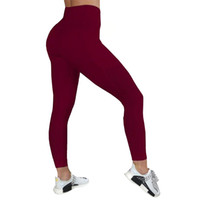 Wholesale breathe yoga pants online - 2019 new Professional Yoga Pants Running Sports Fitness gym Trousers Outdoor Slimming High hip Lift good elastic force Breathing with holes