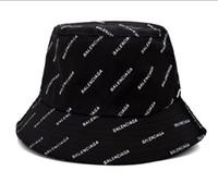 siyah deri stili toptan satış-Moda stil Deri Kova Şapka Mens Womens Için Katlanabilir Balıkçılık Kapaklar Siyah Balıkçı Plaj Güneşlik Satış Katlanır Adam Melon Kap