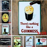 значки оловянные оптовых-Экологию 20 * 30см Металл Олово Войти Пиво Guinness моего ретро Урожай классического Tin Bar Pub Главной Декор стены Ретро Tin Poster