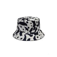 ingrosso uomini di stile del cappello della benna-Secchi Cappelli Donna Sole Ombreggiatura Panda Cappello da pescatore ricamato Berretti di lusso coreano Stile Solido Casual da uomo Viso alla moda
