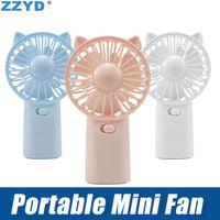 Wholesale cool desktop gadgets resale online - ZZYD Portable Small Fan Cool Handle Fans Place On Desktop Mini Gadget Charging Electric Handheld Fan for Home Office Gifts