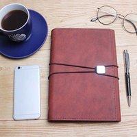ingrosso regalo di ordine del giorno-Viaggi portatile A5 Student Diary Notebook Notepad di cancelleria della scuola Meeting Record A5 della carta del giornale del diario ufficio agenda regalo